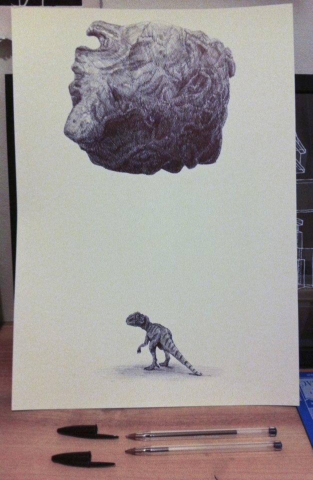 dessins dinosaures paul Roset