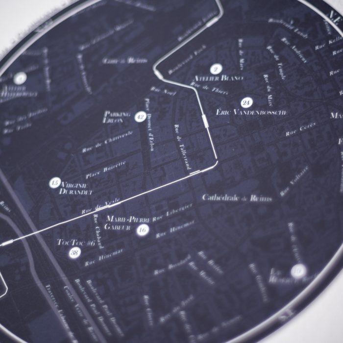 Carte Ateliers d'artistes – Ville de Reims